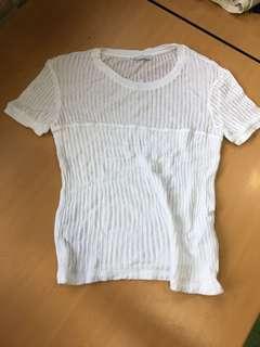 全新 Zara white top size S 白色上衣