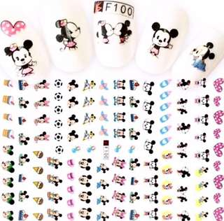 Nail Stickers- Mickey Minnie Mouse