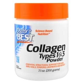 🚚 Doctors Best Best Collagen Types 1 3 Powder 7.1 oz (200 g)