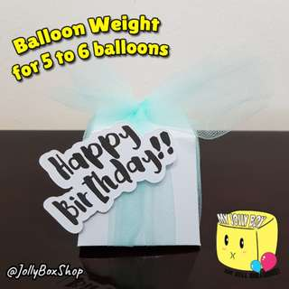 Balloon Weight with Happy Birthday Wordings - For 5 to 6 Normal Helium Balloons