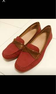 Hush puppies red Dockside shoes