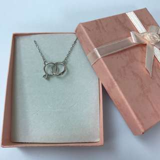 Couple Ring Silver Necklace