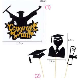 (15/5) FREE NORMAL MAIL - Graduation Cake Toppers/ Tags / Baking Supplies