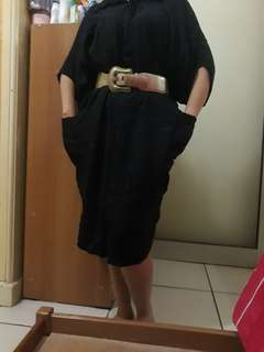 Tunik hitam + belt
