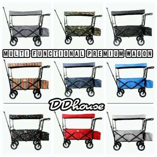 [Instock] Folding Collapsible Utility Wagon Garden Cart Shopping Buggy Yard Sports Beach pinic wagon camping wagon huge pram huge strollers for big dogs multiple pets Fishing cart big grocery cart