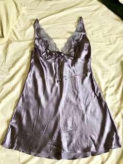Victoria's Secret 性感絲質花邊睡衣 睡袍