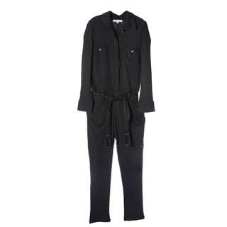 Chloe Long Sleeve Jump suit with fabric tassel belt Front button