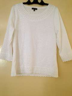 White Lace Top *Brand New*
