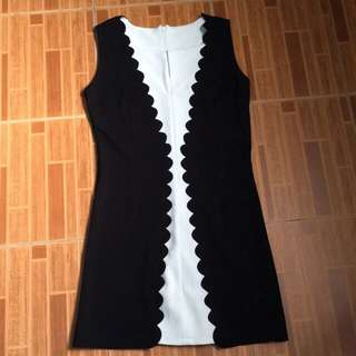 Black & white dress ( office style )