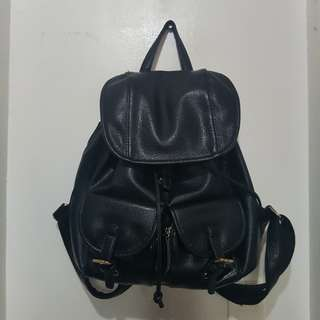 KOREAN black leather bag
