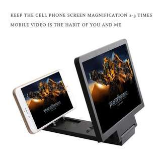 Enlarged screen glass magnifier for mobile phone