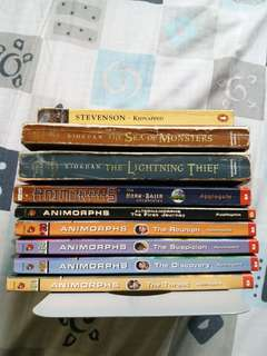 9 books of Animorphs and Percy