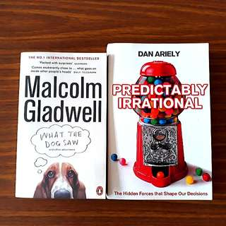 2 for $10: Predictably Irrational; What The Dog Saw