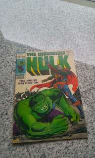 Silver Age Marvel Comics Incredible Hulk