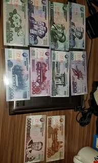 北韓樣鈔一套10張