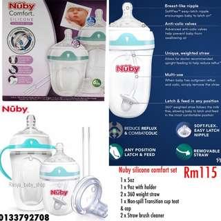 Nuby silicone comfort set