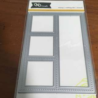 Grid die for crafting and scrapbooking