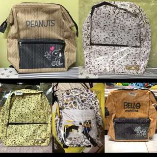 Sanrio Pompompurin Snoopy Minion BackPack Clearance Sale)