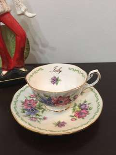 Vintage Tea Set duo for July baby