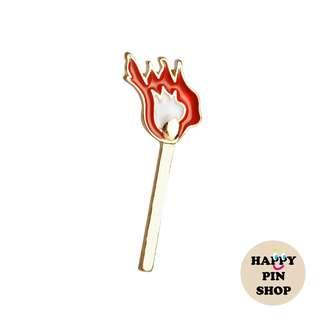 Lighted Match enamel pin (Cigs & Smokes series)