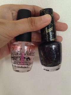 OPI Nail base coat and lacquer