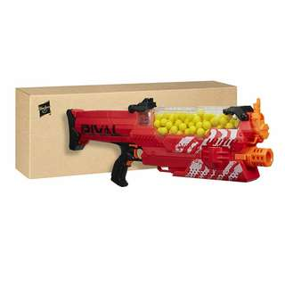 BNIB Nerf Rival Nemesis MXVII-10K Red Color 6 D size battery operated fully motorized blaster with 100 high impact rounds Hasbro TRU