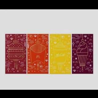 4pcs 2018 McDonald's Hong Kong Red Packet