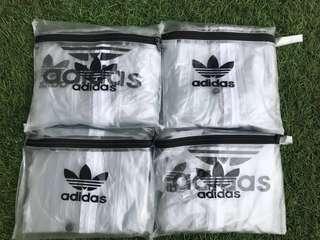 GRATIS jas hujan sekali pakai dengan pembelian 1 Setelan jas hujan/sauna Adidas dengan harga 59999Rupiah
