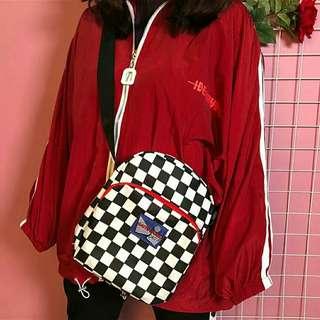 #067: Checkerboard Pocket Sling Bag