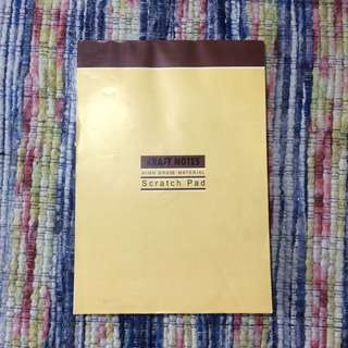 Kraft note pad