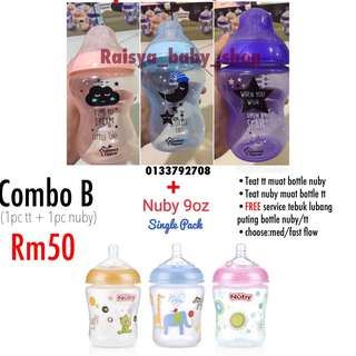 Tommee Tippee 9oz nuby 9oz combo