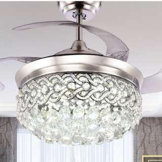 Crystal Chandelier LED Fan