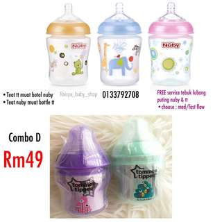 Tommee Tippee 5oz nuby 9oz combo
