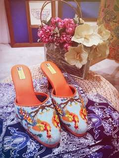 Designer Peranakan beaded shoes