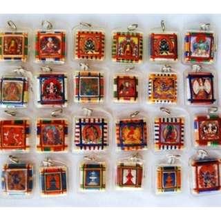 Vesak day special (Tibetan paper amulets) (chakra)