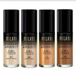 Milani Cosmetics Conceal + Perfect 2in1 Foundation + Concealer