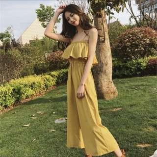🚚 可愛黃色連身褲