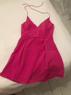 Pink halter neck dress