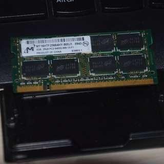Micron 2gb Pc2-6400 Ddr2-800 800mhz Laptop Memory RAM
