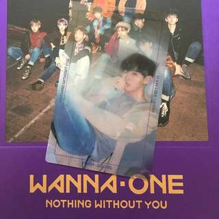 """[WTT] Wanna One Repackage Album """"Nothing Without You"""" WANNA VERSION (Purple) Photocard"""