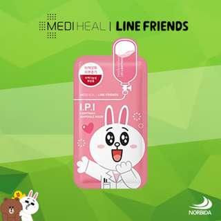 Mediheal Line Friends I.P.I Lightmax Ampoule Face Mask Sheet 27ml X 10pcs