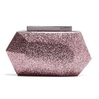 Mimco Glitter Hardcase Clutch