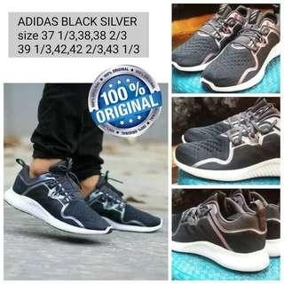Sepatu Adidas Black Silver Original