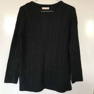Don't Ask Amanda Knit Sweater - Black