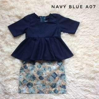 Baju Raya Baby Peplum + Skirt