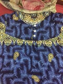 (BN) Promotion for this week-Blue Batik Ladies Nightwear