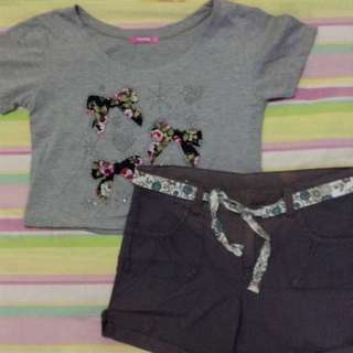 bundle !! top with shorts