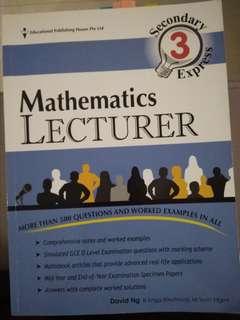 Mathematics Lecturer Secondary 3 Express