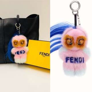 Fendi rink pink fox fur charm 毛毛球掛飾
