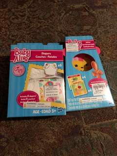 Diaper and food for baby alive